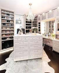 light gray closet island with white metallic cowhide rug uk