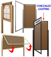 Display Boards Free Standing Large Bulletin Boards Cork Board Displays at Displays100Sale 67