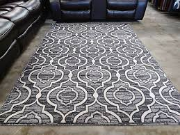 gray black rug 5x8 modern contemporary geometric area rugs new free