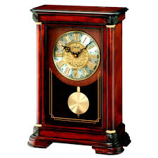wooden chiming seiko mantle clock with pendulum 33cm qxq008b