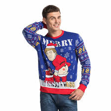 Funny Cheeky Trump Men\u0027s Ugly Christmas Sweater Women\u0027s | You Look Today