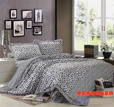 grey gray leopard print korean ruffle comforter bedding set queen comforters sets quilt duvet cover bed sheet bedspread bedsheet bedclothes home texiles bed