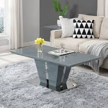memphis coffee table in grey high gloss