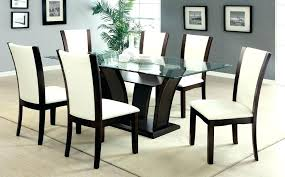 wayfair glass dining table table and chairs 7 piece dining set round dining table set with