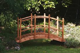 wooden garden bridge ornament decorative feature teak stained for within decorations 12 architecture diy