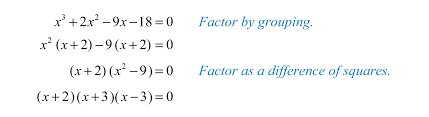 solving equations by factoring polynomial factored form