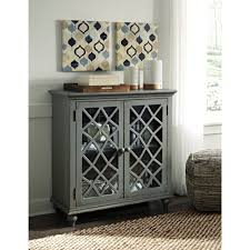 home interior profitable accent cabinet with doors olivia 2 drawers grey glass sk19087d2 gy from