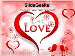 Love Power Point Background Red Love Heart Abstract Powerpoint Background Powerpoint