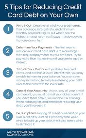 What Credit Cards To Pay Off First 5 Tips For Reducing Credit Card Debt On Your Own