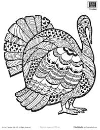 Small Picture Advanced Coloring Page for Older Students or Adults Thanksgiving