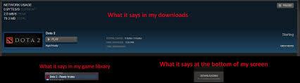 never ending dota 2 download bug steam