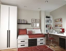 innovative space saving furniture. Space Saving Furniture For Bedroom Features Innovative Storage Bed And High Wardrobe With Red Carpet On Hardwood Flooring