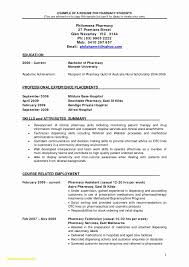Pharmacist Resume Templates Free Elegant 26 Pharmacist Resume