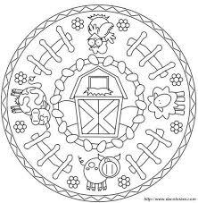 Colorare Mandala Disegno Gli Animali Della Fattoria