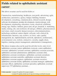 Ophthalmic Assistant Resume Sample Lovely X Ray Technician Resume ...