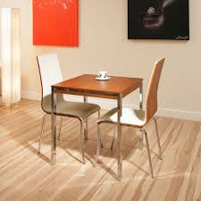 walnut small square dining table 2 ivory chairs cafe 2 chair dining room table