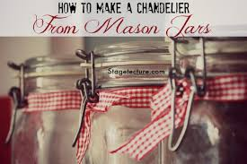 how to make a mason jar chandelier