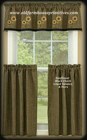 Primitive Curtains For Kitchen Primitive Country Curtains