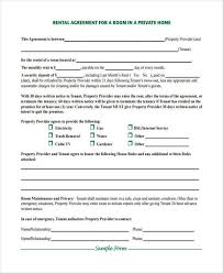House Contract Form Free 8 Rent Contract Form Samples In Sample Example Format