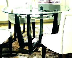 round glass top dining table set 6 chairs
