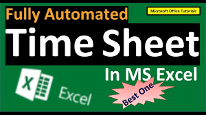 Automated Timesheet Ms Excel How To Prepare Timesheet In Excel Full Tutorial Fully Automated And Easy To Manage