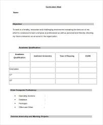 Simple Resume Formats Interesting Simple Resume Format For Freshers In Word File Document