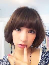 日南響子 憧れの芸能人可愛いショートミディアムボブの髪型ヘア
