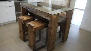 rustic kitchen table with bench. Contemporary Rustic Dining Room Ideas With Reclaimed Wood Table : Lovely Furniture For Kitchen Bench O
