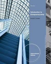 Introduction To Entrepreneurship Introduction To Entrepreneurship International Edition