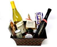 cook s gift basket with chardonnay