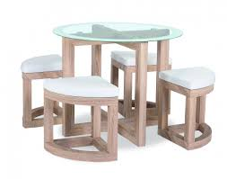 The Quarry Dining Set is a compact dining table and stool chair set. It  features