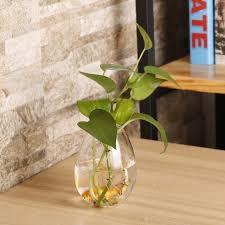 egg shaped transpa wall hanging vase plant flower glass bottle home decor xp
