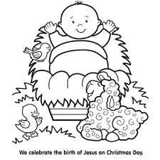 Small Picture Jesus in Manger Coloring Page Free Christmas Recipes Coloring