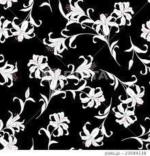 ユリの花パターンのイラスト素材 20084138 Pixta
