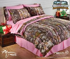 amazing girl bedroom decoration using light pink and brown camouflage bedroom sets