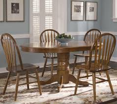 oval pedestal dinner table w 4 windsor side chairs
