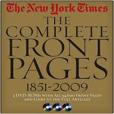 new york times the plete front pages 1851 2009