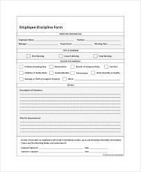 Free Printable Employee Discipline Form Template 4983