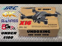 <b>JJRC X16</b> HERON 6K CAMERA GPS DRONE UNBOXING + OVER ...