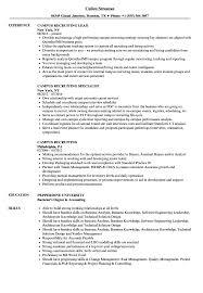 Recruiting Specialist Resume Sample Campus Recruiting Resume Samples Velvet Jobs 23