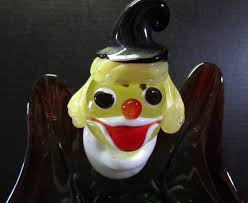 murano glass clown ashtray