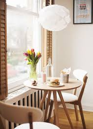 captivating light brown round modern wooden small dining table stained design high definition wallpaper photographs