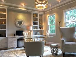 modern home office with window natural lighting design