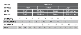 Black Diamond Ski Boots Size Chart Apex Gaiter