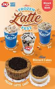 The ice cream won't come out of your cup, even if you turn it upside down (unless you let it melt, of course). Dairy Queen Kick Starts 2021 With Frozen Latte Blizzard Fest The Manila Times
