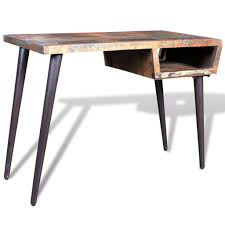 reclaimed wood desk with iron legs 1 8