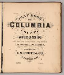 title page for book title page plat book of columbia county wisconsin david rumsey