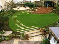 Small Picture Circular artificial lawn railway sleepers raised beds