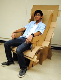 cool cardboard chairs created by architecture students cardboard chair design with legs1 legs