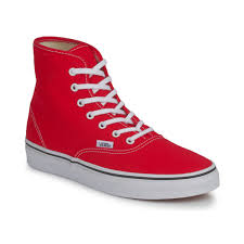 vans shoes red and black high tops. cheap vans authentic high top shoes (red) red and black tops a